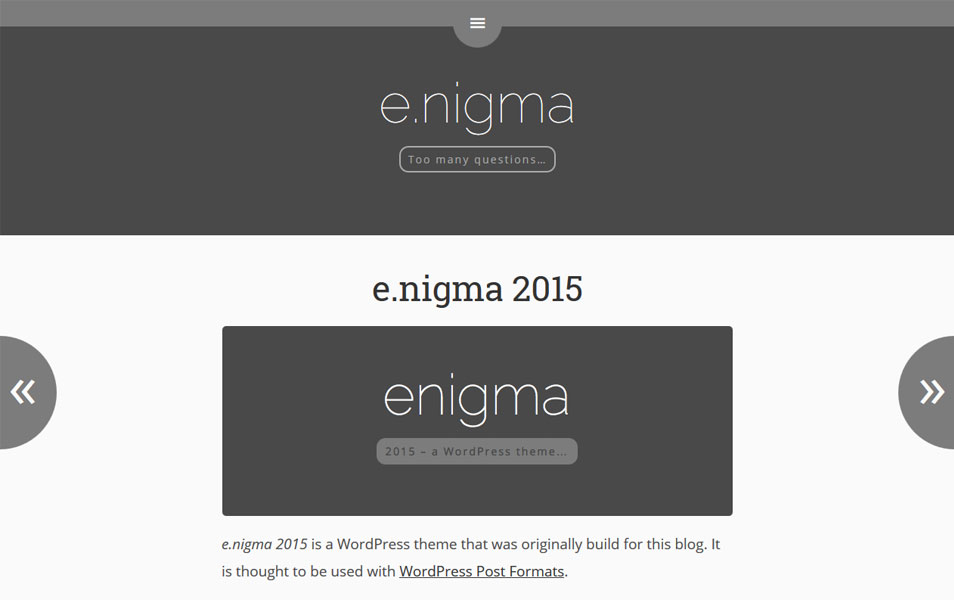 E.Nigma 2015 Responsive WordPress Theme