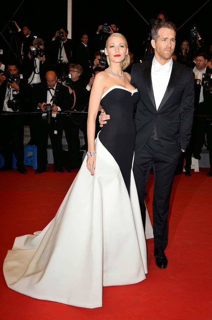 Blake Lively in Gucci with Ryan Reynolds, Cannes fashion, Red carpet Fashion 2014, L'Oreal Spokesperson, L'Oreal Ambassador, Celebrity Fashion, Pakistan Fashion Blog, Top Trends 2014