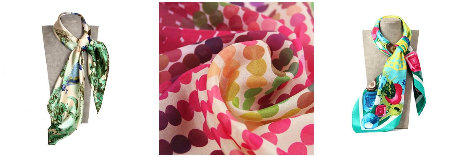 Silk scarves for christmas