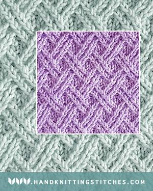 Hand Knitting Stitches - Double Lattice Twist Pattern