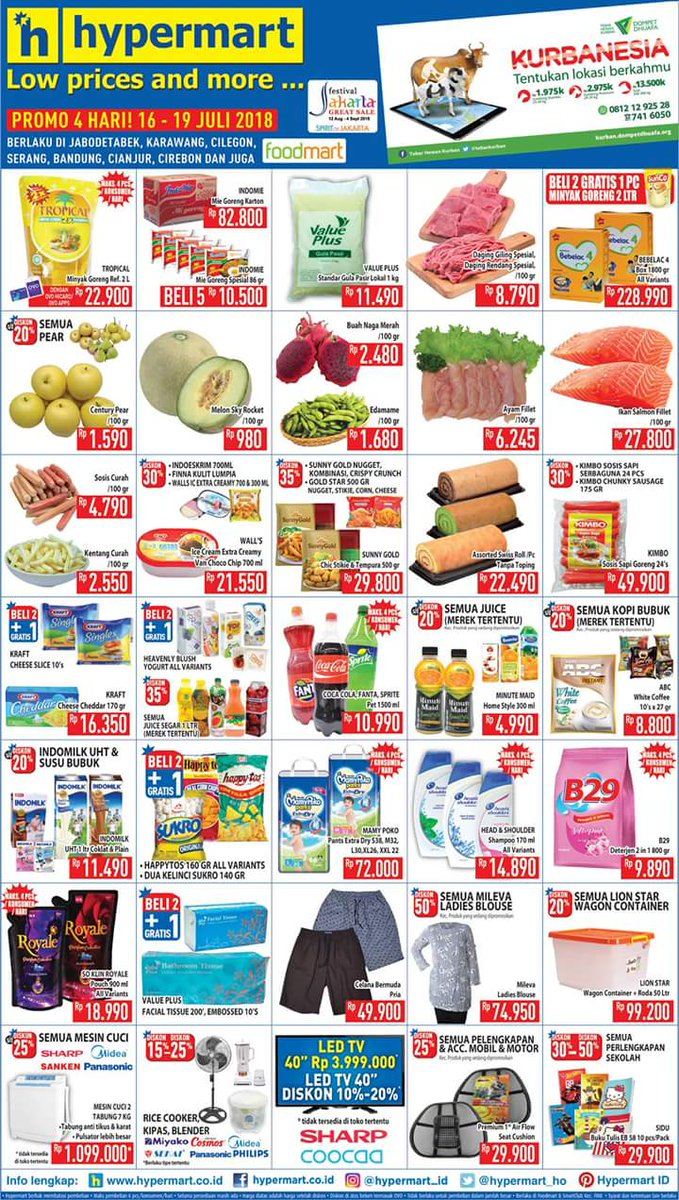 Hypermart - Katalog Promo Low Price and More Periode 16 - 19 Juli 2018