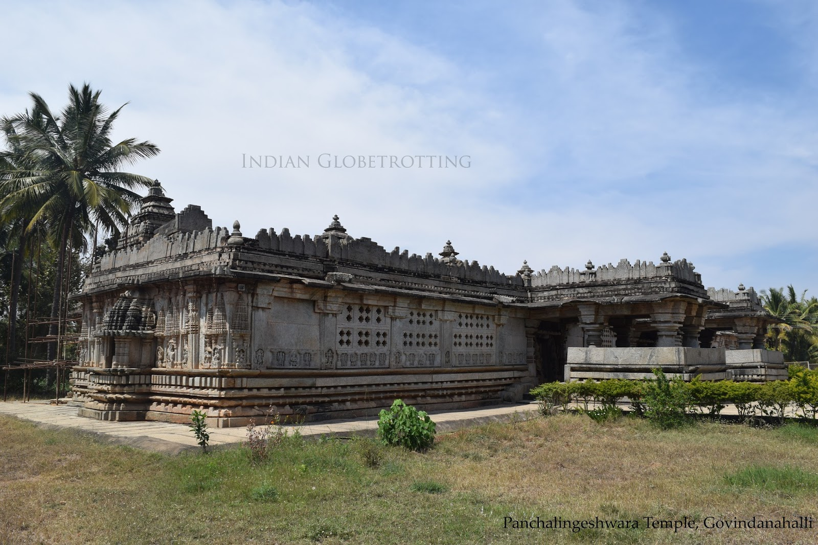 Long view of  Panchalingeshwara Temple in govindanahalli in karnataka