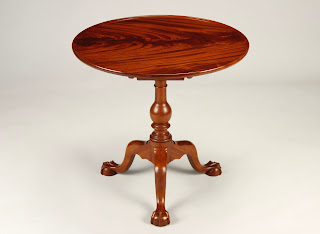 Mahogany and Crotch Mahogany Tea Table