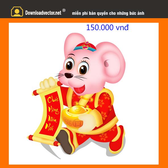 Vector chuột vàng 2020 file psd