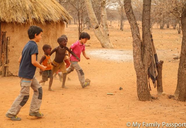 namibia con niños