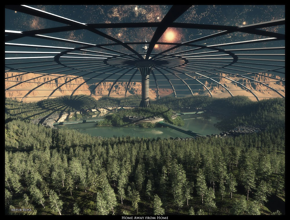 Forest under a dome on Mars by Artur Rosa