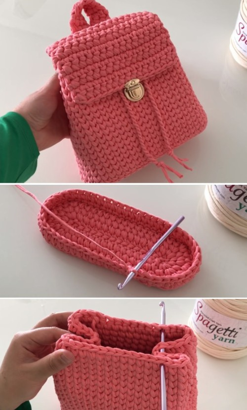 Crochet Pretty Easy Backpack - Tutorial