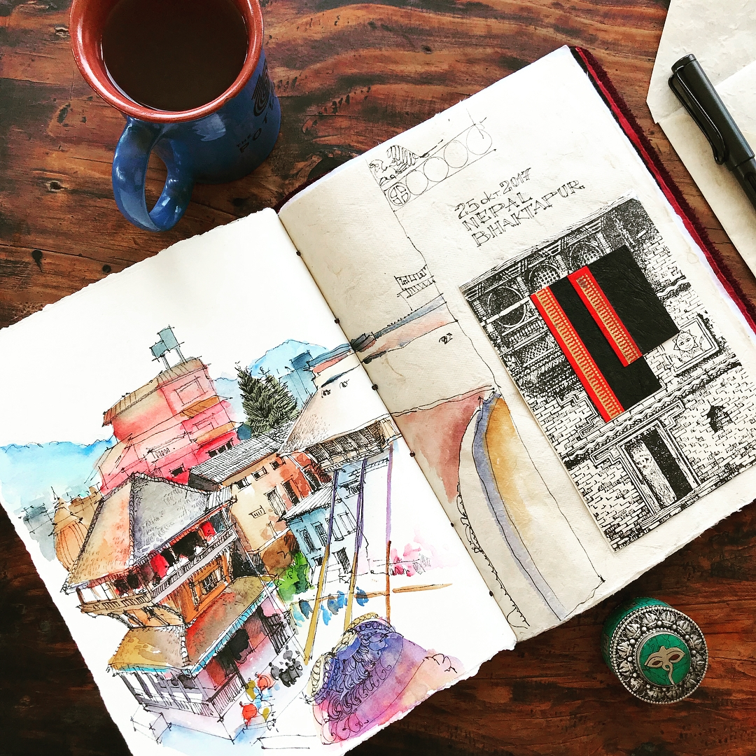 15-Alena-Kudriashova-Travelling-with-your-Sketchbook-Diary-www-designstack-co