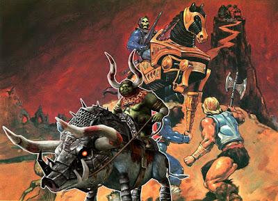 Cavalli corazzati tigri lupi Masters of the Universe MMO