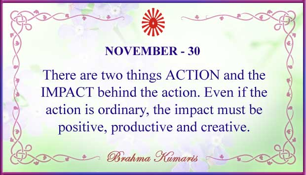 Thought For The Day November 30