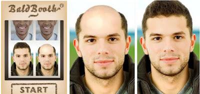 Bald booth aplikas membuat wajah botak lucu terbaru