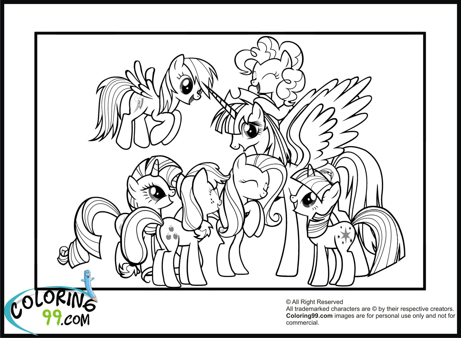 coloring pages about friendship - my little pony coloring pages minister coloring