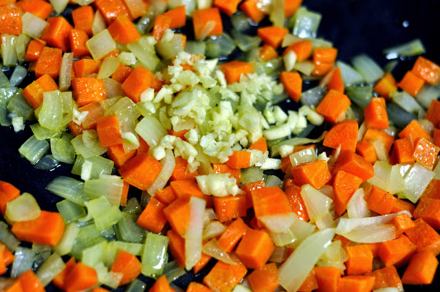 Chopped Carrot and Onions with Minced Garlic | Taste As You Go