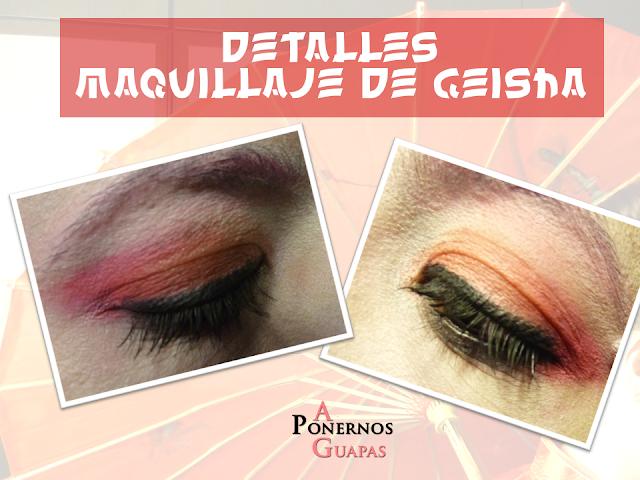 Maquillaje de geisha Carnaval A Ponernos Guapas detalle