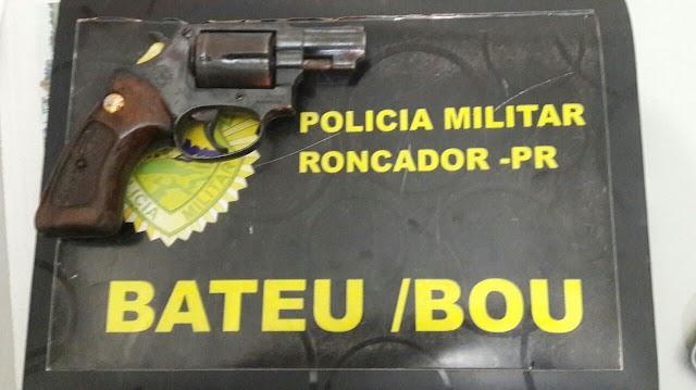 PM de Roncador prende pessoa embriagada e de posse de arma em Alto São João