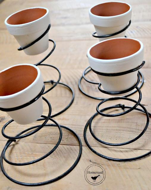terra cotta pots in rusty springs