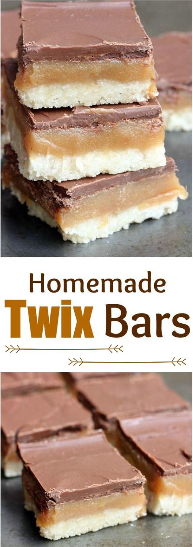 HOMEMADE TWIX BARS #bars #healthycake