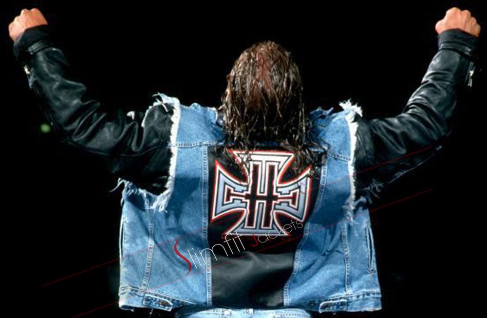 f9f986b31f560 STRENGTH FIGHTER™  Triple H denim leather jacket