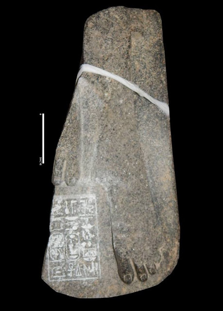 Fragment of black granite statue of Amenhotep III discovered in Sohag
