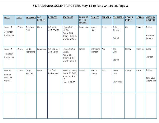 roster schedule