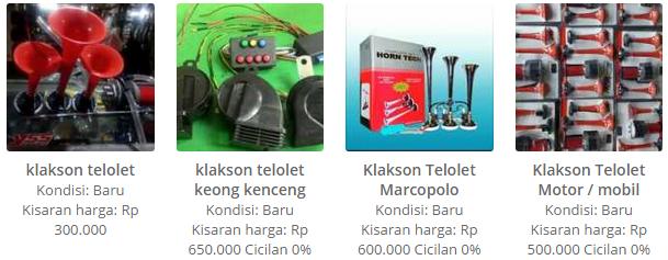 Harga Klakson Telolet, Telolet Keong, Telolet Marcopolo dan Telolet Motor/Mobil