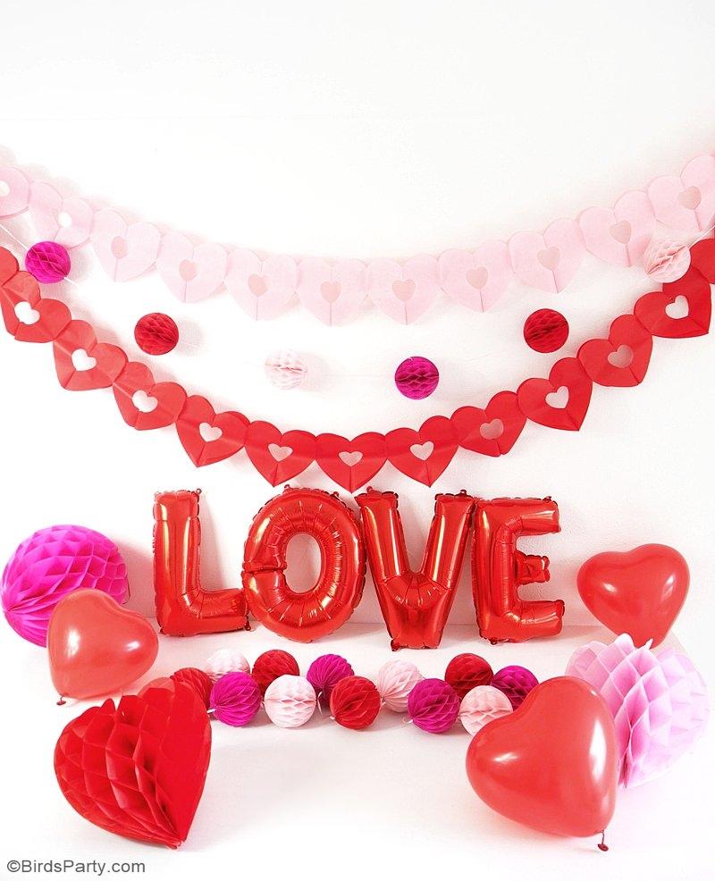 Une Fête Créative pour la Saint-Valentin - idées de décoration DIY, desserts et fun pour célébrer avec les enfants ou vos copines! | BirdsParty.fr
