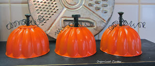 Repurposed Jello Mold Pumpkins www.organizedclutterqueen.blogspot.com