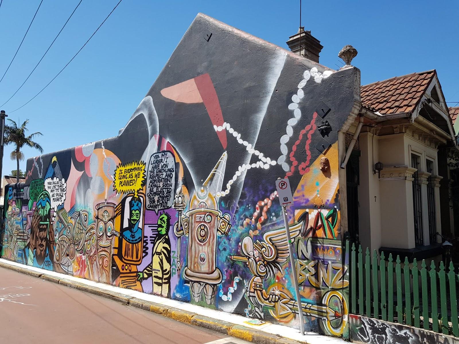 Sydney City And Suburbs St Peters Street Art