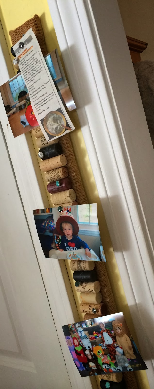 Top Ate on Your Plate: How to Make a Wine Cork Bulletin Bar