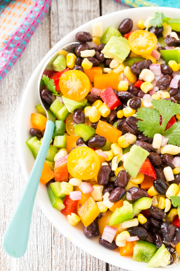 Black Bean Corn Salad - colorful and easy summer side dish