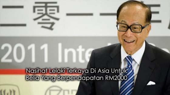 Pesanan Lelaki Terkaya Di Asia Untuk Belia Berpendapatan RM2000