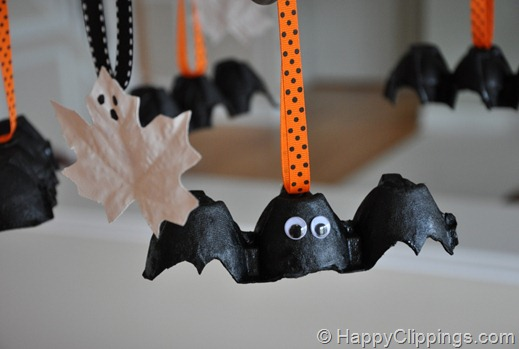 DIY Halloween Flying Bat Decorations