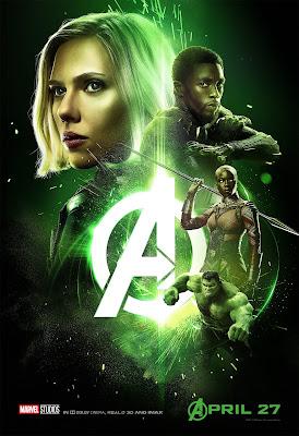 Marvel Avengers Infinity War poster Natasha Romanoff T'Challa Okoye Hulk