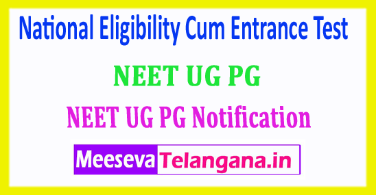 NEET 2018 National Eligibility Cum Entrance Test Application Form Notification Admit Card Download