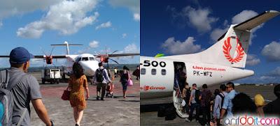 Suasana Naik Pesawat baling-baling Wings Air