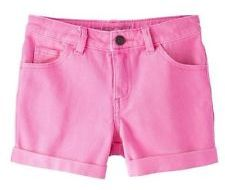 Bubblegum denim shorts