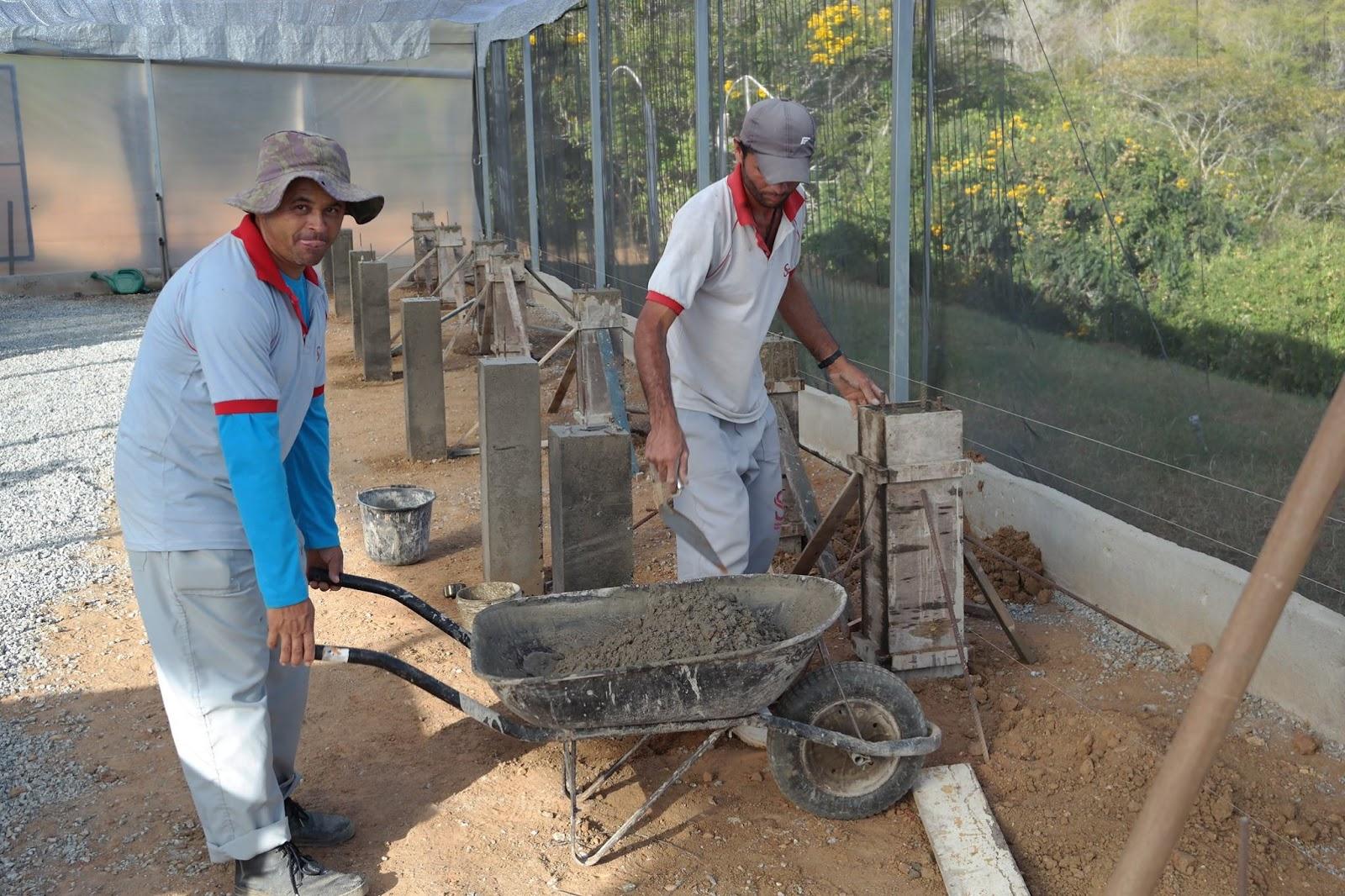 12391be320c71 São obras de construção e revitalização que vão desde pintura até a  concretagem de tanques, além da construção de bancadas dentro da nova  estufa, ...
