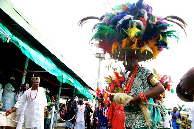 Eagle Schnapps participates in the Ofala Festival