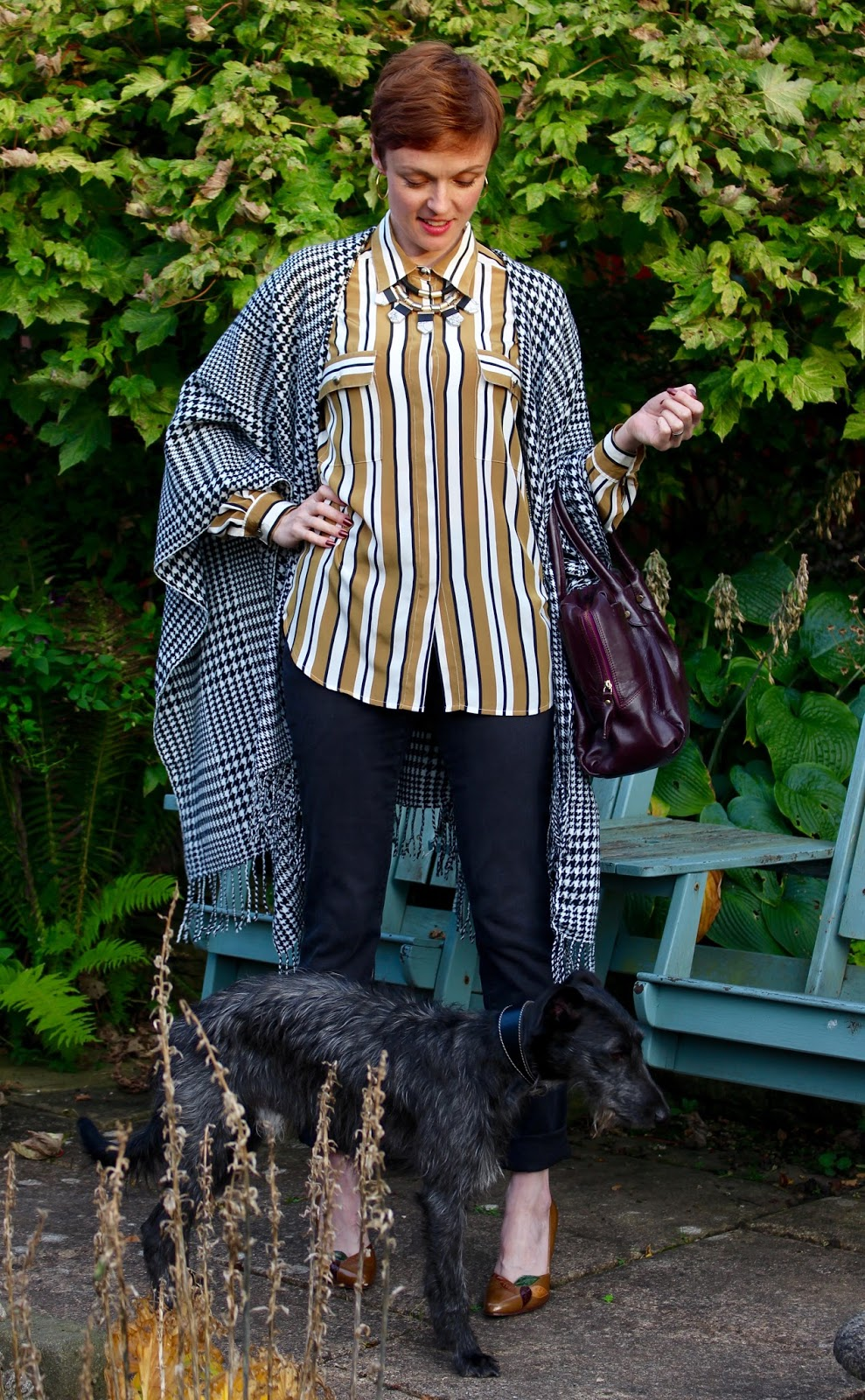 Autumn layers and a photobomber | Fake Fabulous