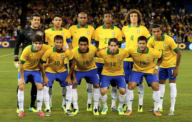 Formación de Brasil ante Chile, amistoso disputado el 19 de noviembre de 2013
