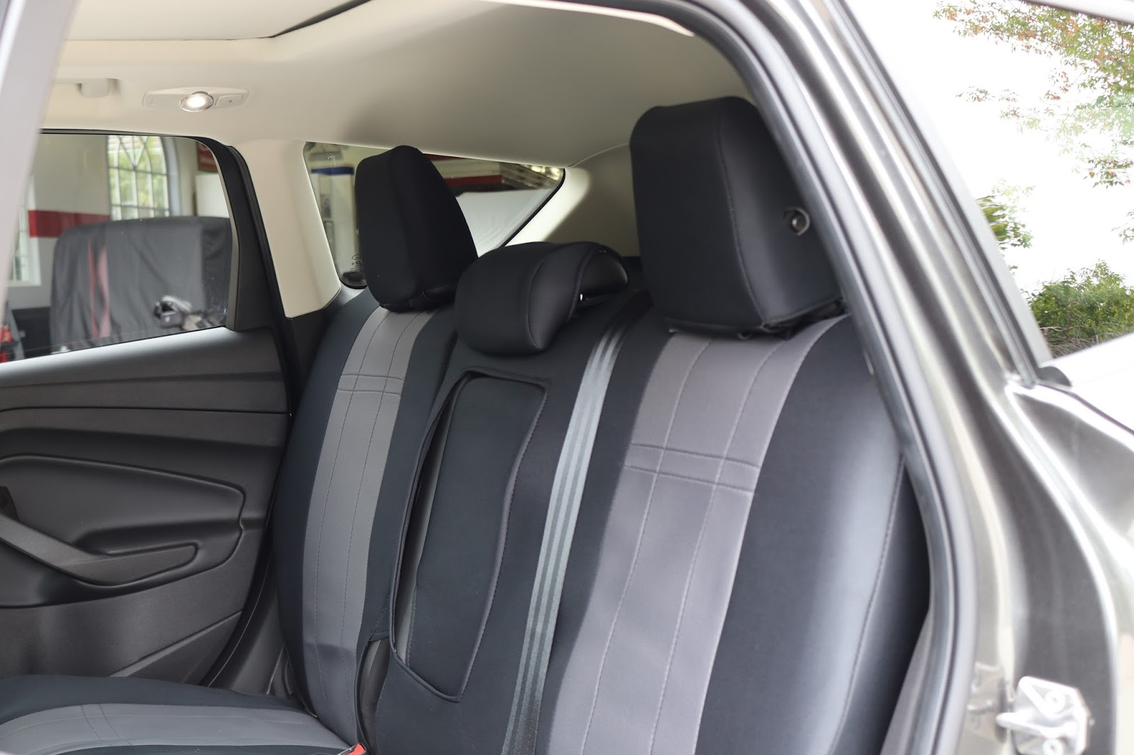 Now that we have the floor surfaces protected the next step is to protect the seating surfaces in the ford escape the rear bench seat needed some