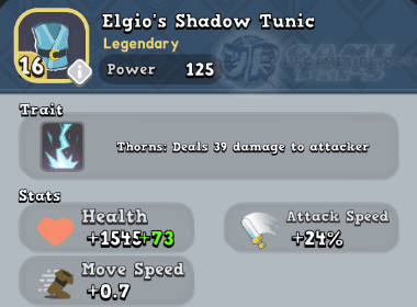 World of Legends Elgio's Shadow Tunic
