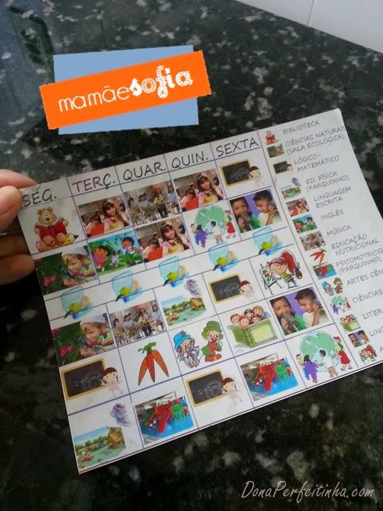 HORÁRIO ESCOLAR INFANTIL - para crianças que ainda não leem