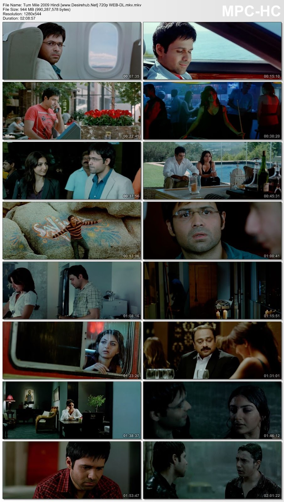 Tum Mile 2009 Hindi 480p WEB-DL 350MB Desirehub