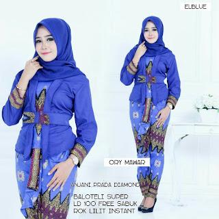 Batik Wanita Setelan Anjani Sabuk