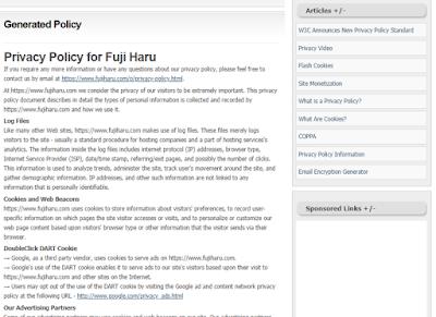Cara Mudah Membuat Privacy Policy, Disclaimer dan Term Of Service