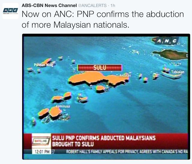 4 lagi rakyat Malaysia diculik di Sabah - Lapor Media Filipina