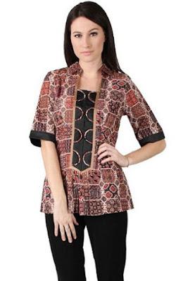 Baju Batik Kerja Terbaru