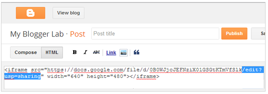 Blogger Blog Post Mein Kaise PDF/Other Documents Embed Kare?
