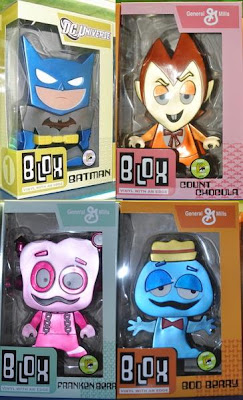 San Diego Comic-Con 2011 Exclusive Blox Vinyl Figures by Funko - Batman, Count Chocula, Frankenberry & Boo Berry